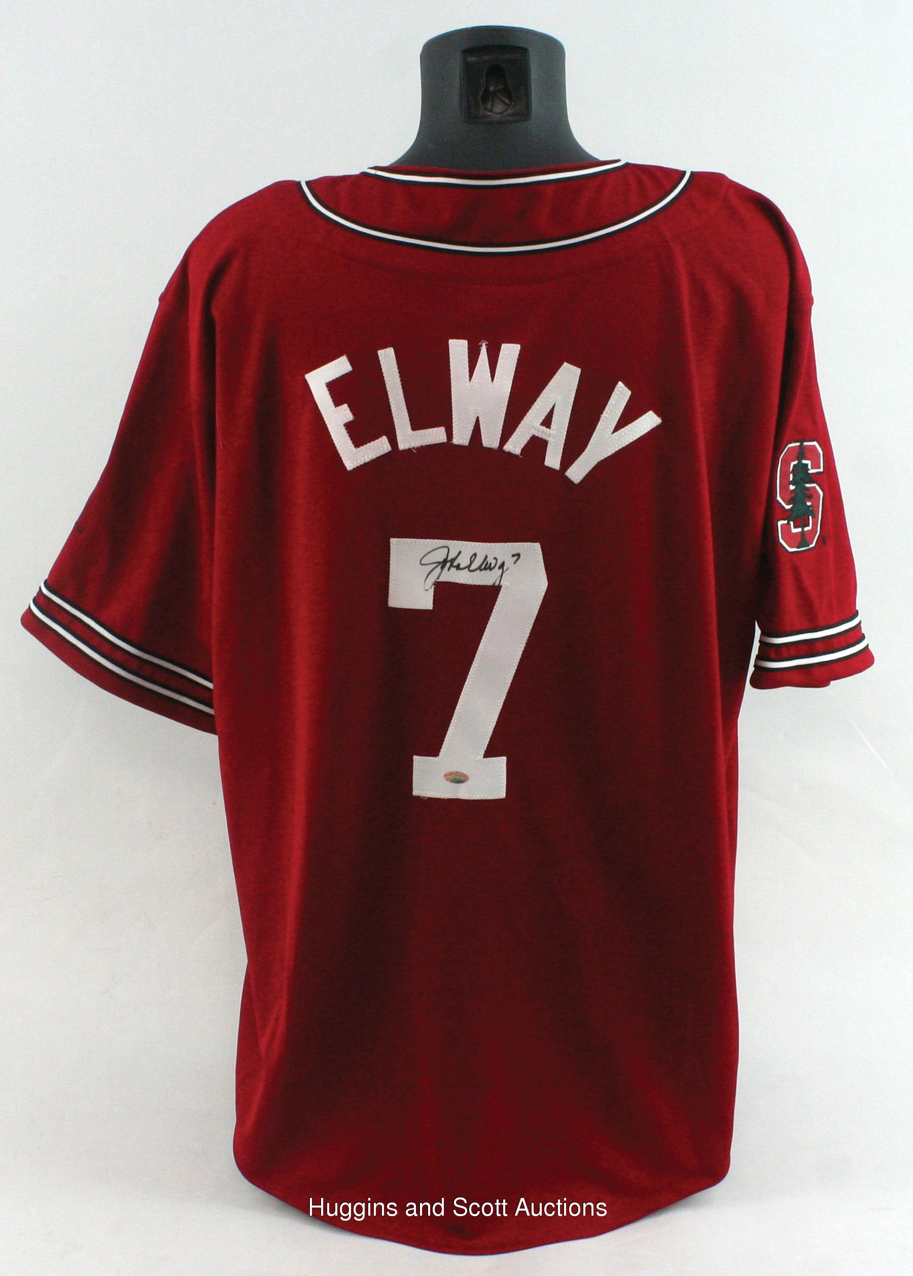 official photos b8d3f 15f62 John Elway Signed Stanford Baseball Jersey