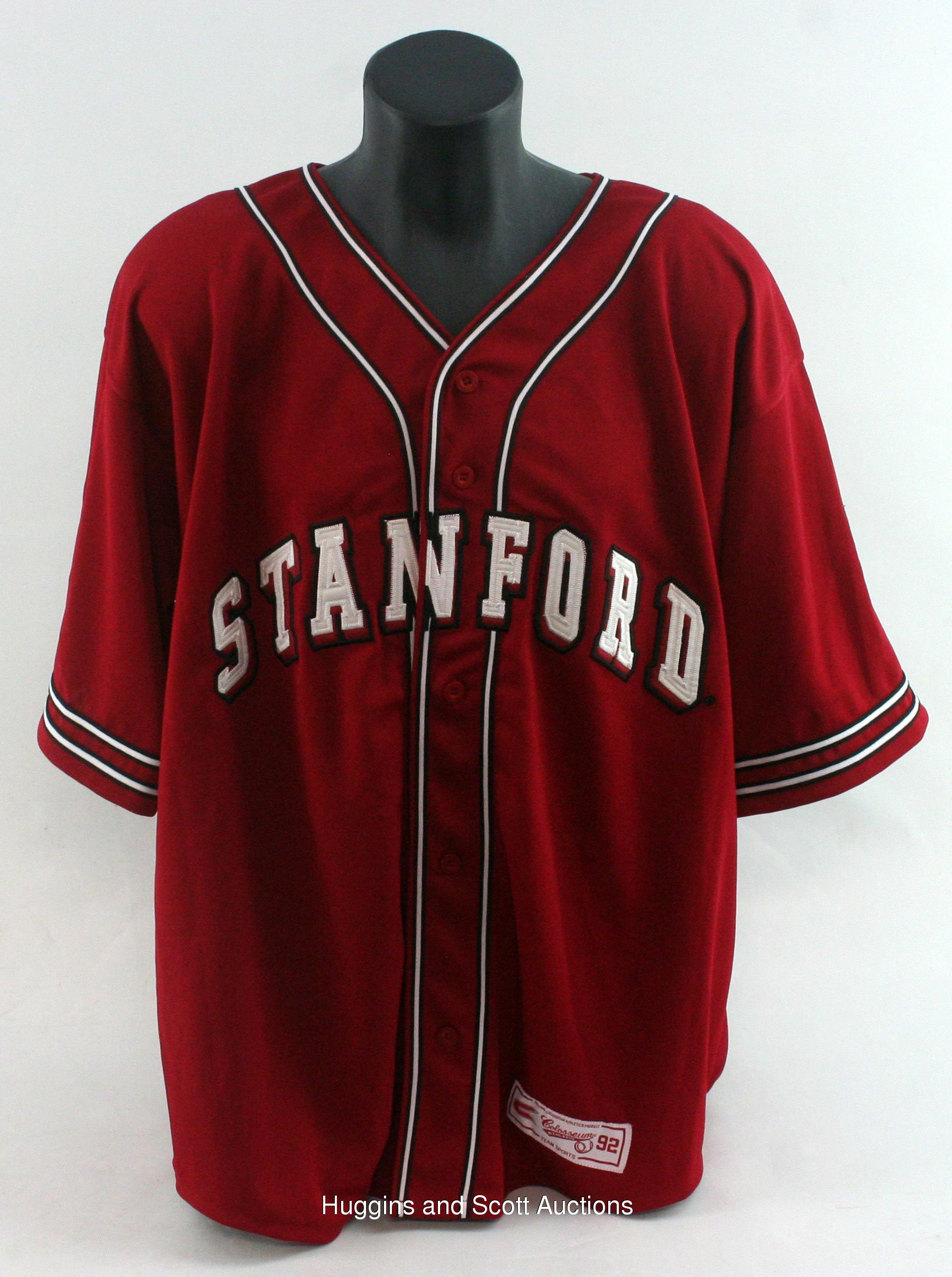 official photos 03a27 58cc9 John Elway Signed Stanford Baseball Jersey